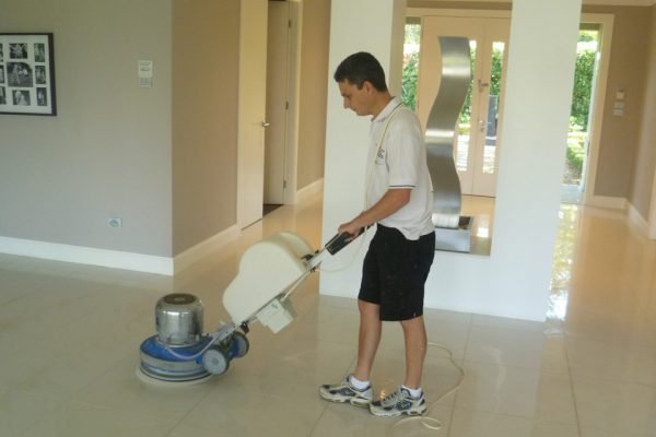 Polishing Floor Tiles
