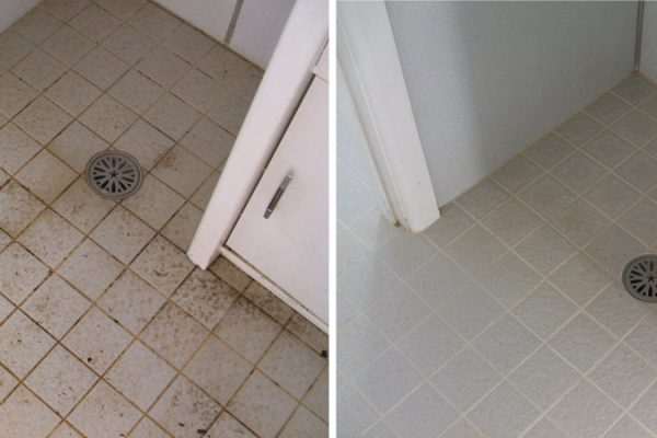 Grout Before And After Re-colouring