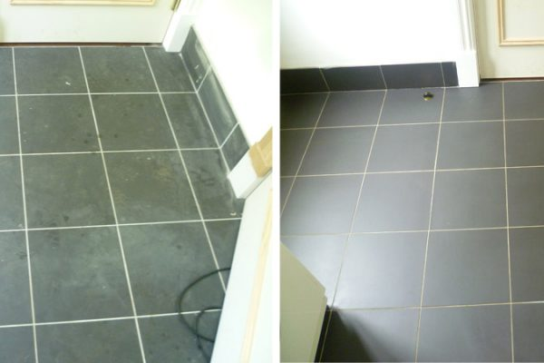 Porcelain Tiles Before And After Restoration